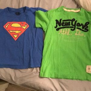 Superman and New York Old Navy shirts